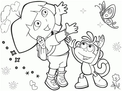 dora coloring pages free online get this printable dora the explorer coloring pages online