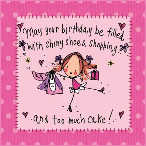 Shoe Year Wishes Me Stace by Shiny Shoes Shopping And Cake Happy Birthday