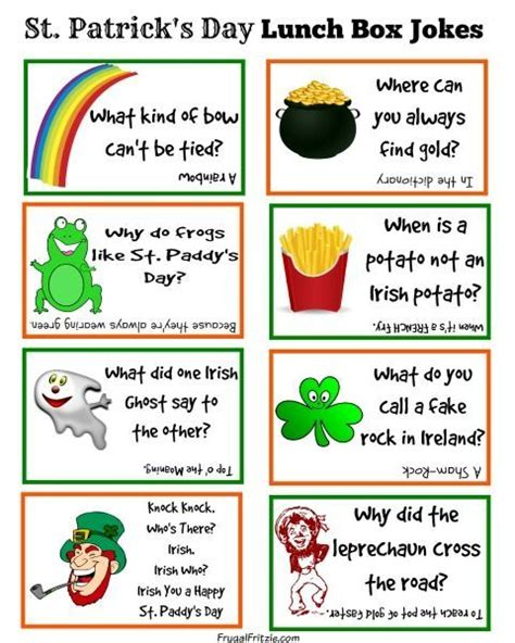 printable military jokes free printable st patrick s day kids lunch box jokes