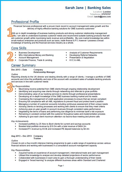 Core Qualifications Examples For Resume by Example Of A Good Cv