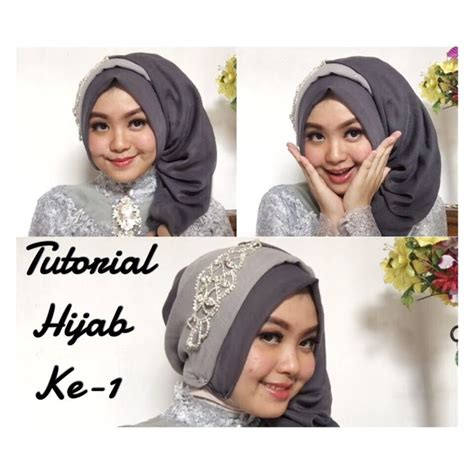 tutorial jilbab pesta simple paris 25 best ideas about tutorial hijab segi 4 on pinterest