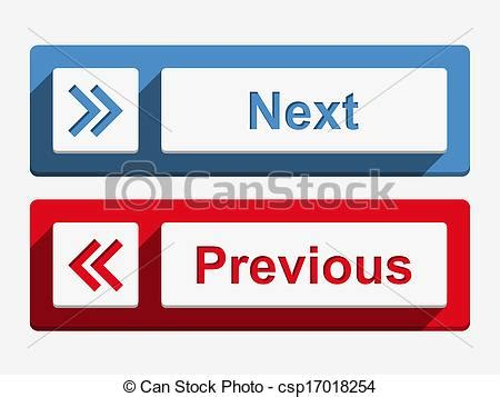previous next clipart vector of next and previous buttons next and