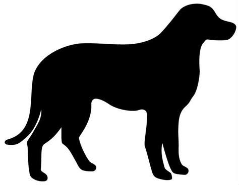 design lab outline black dog outline free design templates