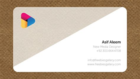 Transparent Business Card Template Psd