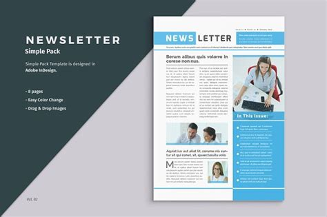 Business Newsletter Template Brochure Templates Creative Market Indesign Letter Template