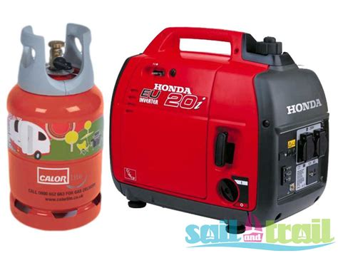 honda eu20i lpg suitcase inverter generator on bottle