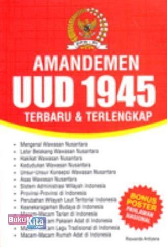 bukukita amandemen uud 1945 terbaru terlengkap