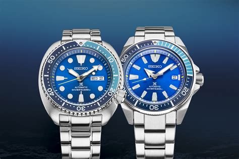 Seiko Prospex Samurai Srpb49k1 Automatic Divers Blue Diver Ter introducing seiko prospex turtle srpb11 and samurai srpb09 blue lagoon limited editions