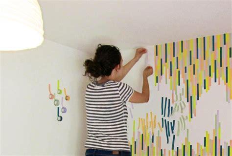 washi tape home decor washi tape wall tutorial the symmetric