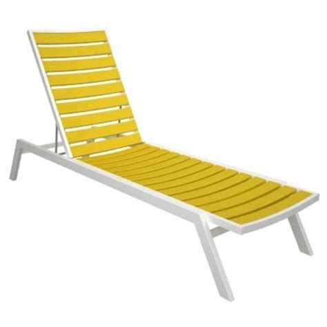 white chaise lounge outdoor polywood 174 euro aluminum outdoor chaise lounge with white frame