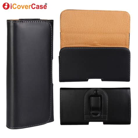 Pouch Leather Official Logo Xiaomi Redmi Note 4 cover for xiaomi redmi note 4 cases holster belt