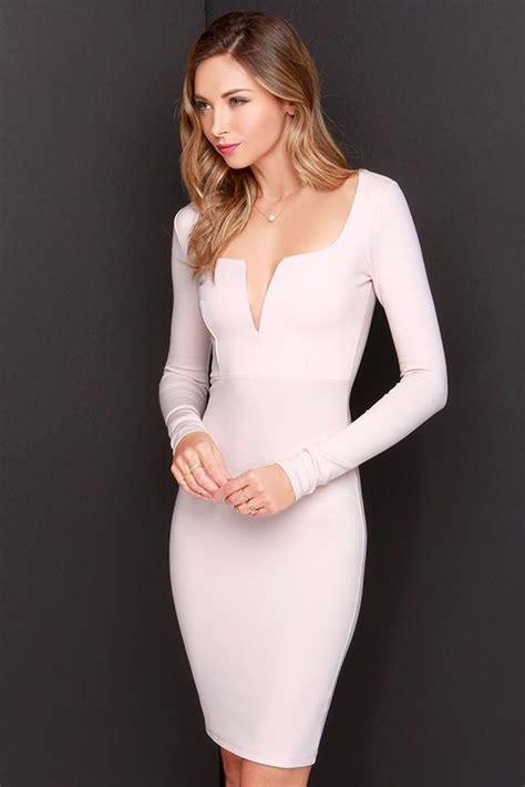 Vania Midi Dress pastel pegado larga para uso formal dress