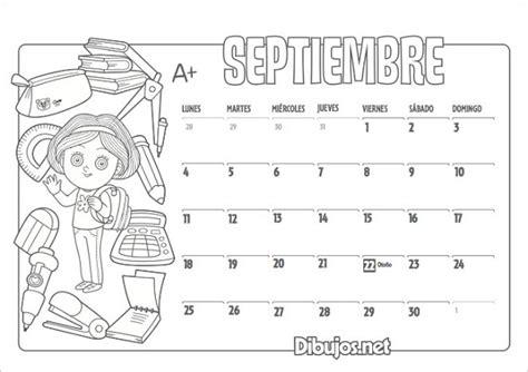 organiza t calendarios de septiembre gratis para descargar calendario escolar 2017 2018 m 225 s de 100 im 225 genes para