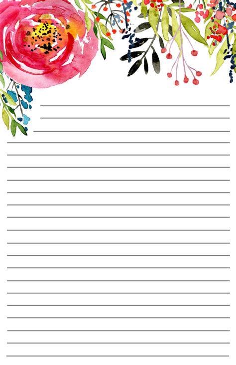 printable floral stationery paper trail design