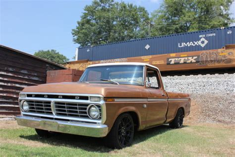 ford f100 73 1973 f100 awesome patina crown vic suspension resto