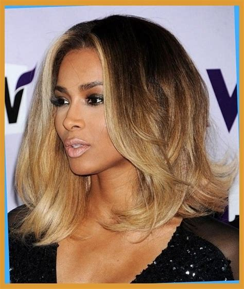 picture of shoulder length hair on african american women wavy shoulder length bob hairstyles for african american