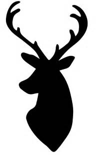 My dear husband whipped up this deer head silhouette pattern for me
