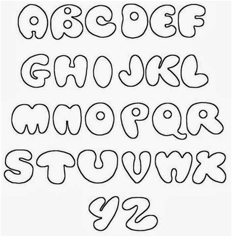 Graffiti Wall: Graffiti font bubble letters