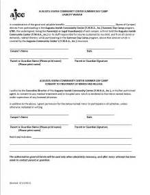 waiver of liability forms