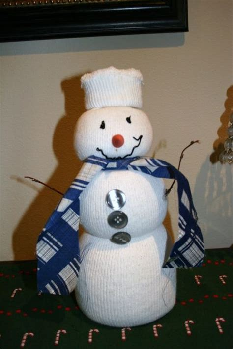 sock snowman craft with rice we sock snowman and rice on