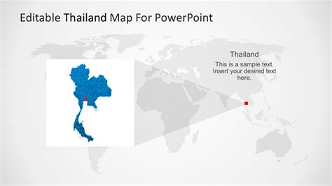 Editable Map Of Thailand Powerpoint Slidemodel Editable Powerpoint Templates