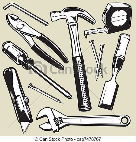 tool drawing vectors illustration of tools a collection of