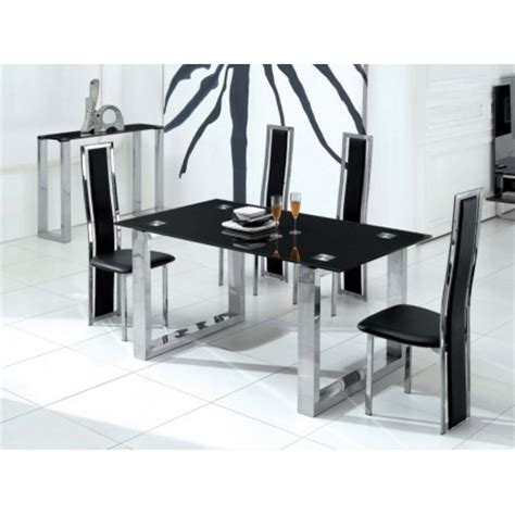 6 chair glass dining table set glass dining table molten black 6 d231 chairs set