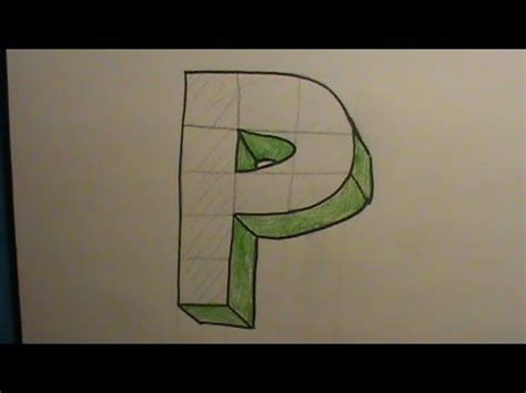 P Drawing Photo by How To Draw The Letter P In 3d