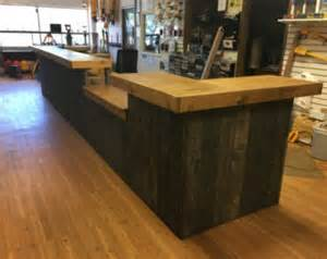 sales desk up to 20 rustic retail sales counter reception desk by