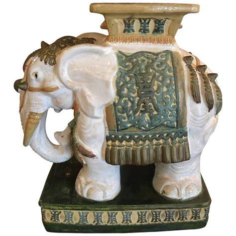 Vintage Elephant Garden Stool elephant garden stool stand vintage