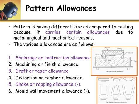 negative pattern allowances u2 p0 overview of casting