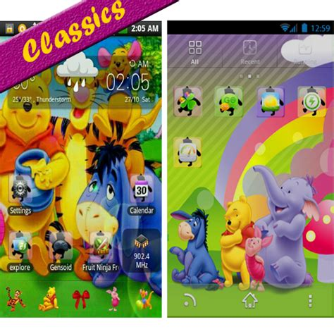 theme line android winnie the pooh amazon com winnie the pooh go launcher theme appstore