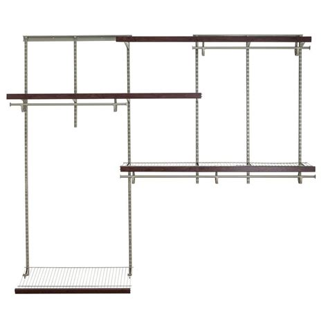 closetmaid shelftrack 5 ft 8 ft nickel wire closet