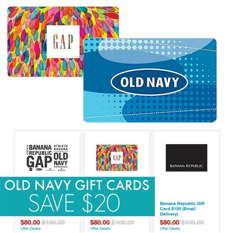 Can You Use Old Navy Gift Card At Gap - old navy gift cards 50 gift card for 40