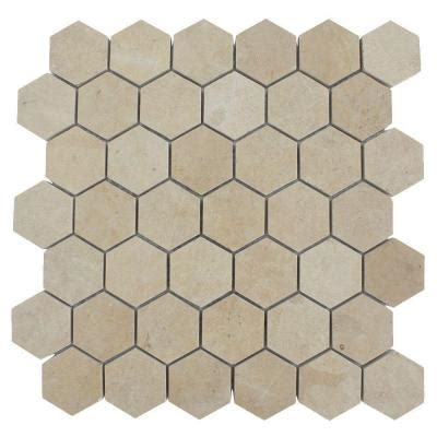 splashback tile jer gold hexagon 12 in x 12 in polished