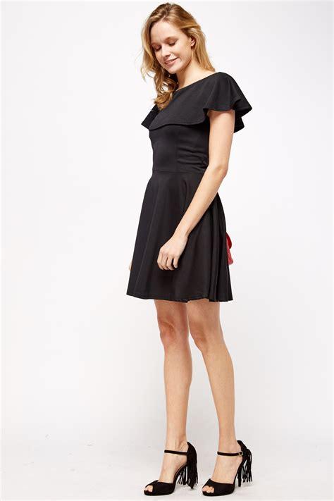 Mercer Black Skater Flared Dress flared black skater dress just 163 5