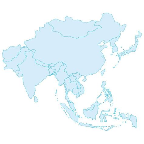 maps vector outline vector map of asia at vectorportal