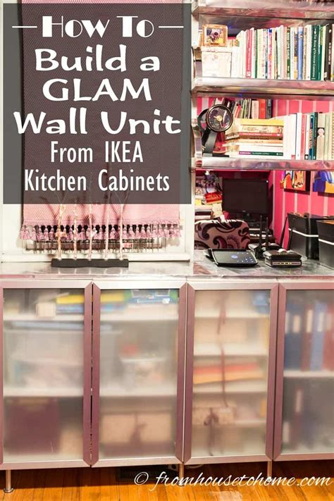 build  glam wall unit  ikea kitchen cabinets