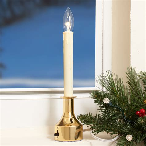Electric Candles For Windows Decor Adjustable Electric Window Candles With Timers At Brookstone Buy Now