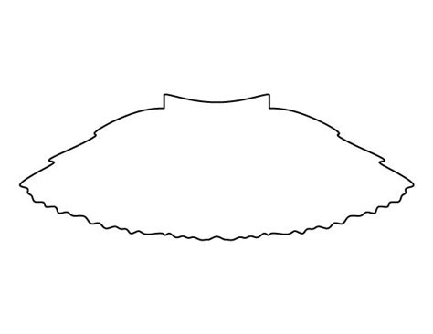 pin the tutu on the ballerina template tutu pattern use the printable outline for crafts