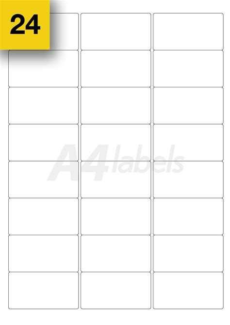24 label template gloss white shiny sticky a4 laser printer labels whole