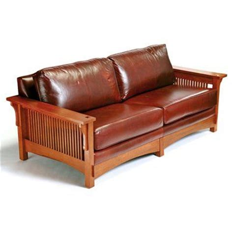 Mission Style Couches by Arts Crafts 9601 Mission Sofa Cognac Home Furniture