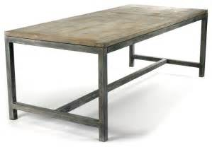 Industrial Kitchen Table Furniture Abner Industrial Modern Rustic Bleached Oak Gray Dining