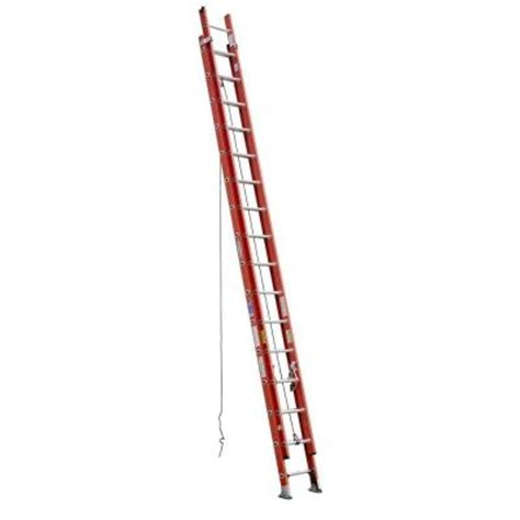 Extension Ladders At Home Depot by Werner 32 Ft Fiberglass Extension Ladder With 300 Lb