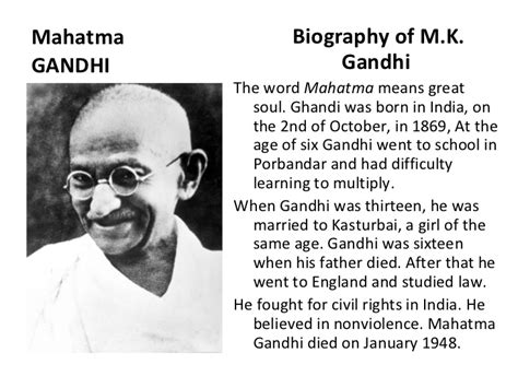 what is biography in english mahatma gandhi
