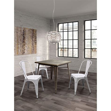 zuo olympia gunmetal dining table 109125 the home depot
