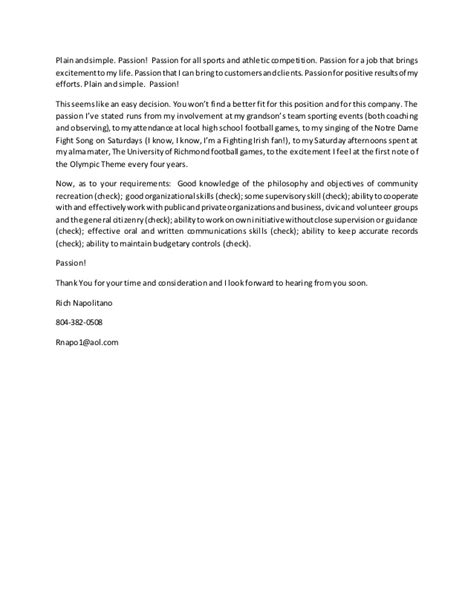 Cover Letter For Sports by Cover Letter Sports 2