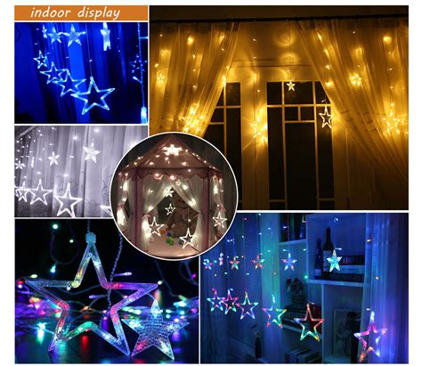 string lights in bedroom over window for the home 2m warm white curtain hanging stars twinkling windows