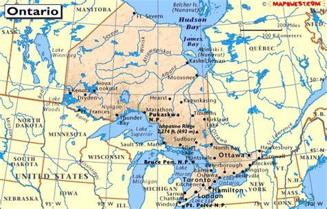 ontario canada map canada provincial map of ontario