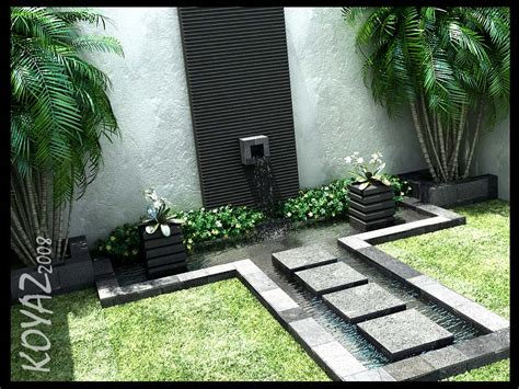 design water feature courtyard design and landscaping ideas